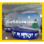 24 Inflatable Showing Globe Christmas