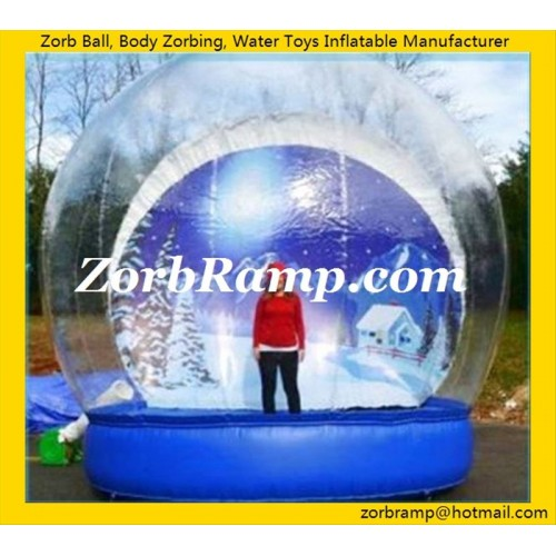 33 Inflatable Christmas Snowing Globe