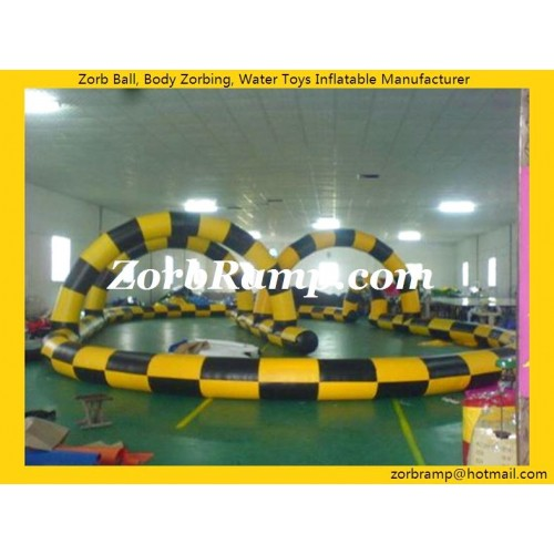 21 Inflatable Zorbing Ball Racing Track